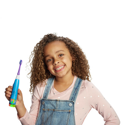 Introducing BriteBrush(TM) GameBrush by WowWee. The new, smart toothbrush that makes it fun for kids to brush right...Right out of the box!