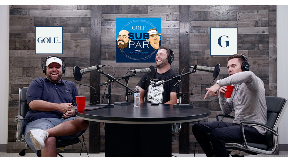 Subpar with Colt & Drew, featuring popular golf talk show hosts Colt Knost and Drew Stoltz (shown here with guest Jon Rahm), is GOLF.com's new and creative take on golf. Every Tuesday, episodes will be distributed across GOLF's platforms—including on YouTube, as a podcast, through social media outlets, and directly on the GOLF.com site.