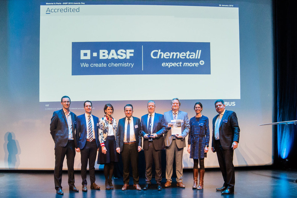 Chemetall receives Airbus SQIP award for the sixth consecutive year. ©Airbus.