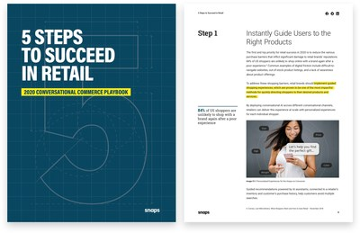 The 2020 conversational commerce playbook outlines five practical steps for retail brands to deliver frictionless, online experiences