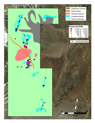 Figure 1: Fermin plan map with channel sample locations and pending sample locations (CNW Group/Sable Resources Ltd.)