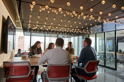 Immersive spaces to inspire and connect dominate Diageo NA's new headquarters in Lower Manhattan.
