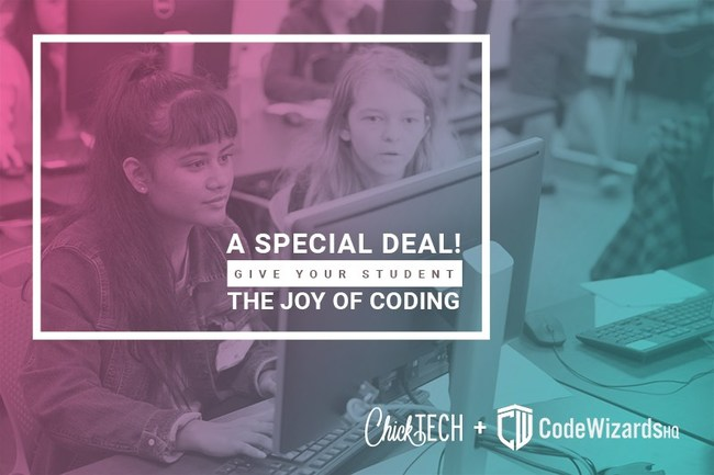 CODEWIZARDSHQ + CHICKTECH PROVIDE REDUCED-COST CODING CLASSES FOR KIDS