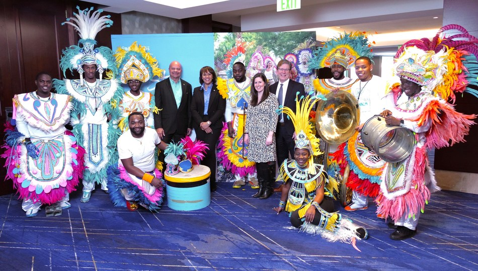 The Bahamas Ministry of Tourism & Aviation hosted events for media and travel agents at the Ritz Carlton in Denver to promote the new nonstop United Airlines service from Denver to Nassau beginning in March. Bahamas Road Show Denver Partners: Pictured Ellison 'Tommy' Thompson (Deputy Director General, Bahamas Ministry of Tourism & Aviation), Joy Jibrilu (Director General, Bahamas Ministry of Tourism & Aviation), Erin Benson (United Airlines), Fred Lounsberry (Nassau Paradise Island Promotion