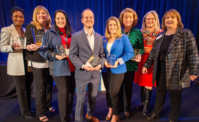 Texas Realtors 2019 Award Winners (from left): Marion Napoleon; Jacque Gordon; Monica Solis Pena; Will Northern; Rita Klein Blevins; Dianne McCoy; Christine Wren; Denise Price. (Not pictured: Melody Gillespie and the Odessa Board of Realtors).