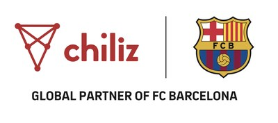 Chiliz and FC Barcelona Logo (PRNewsfoto/Chiliz)