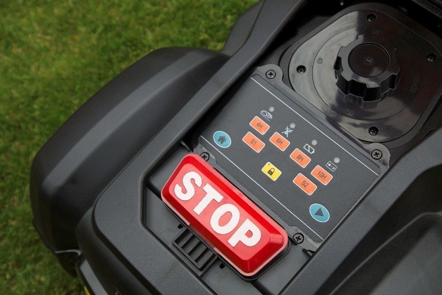Yard Force SA Models are equip with Simplified Control Panel; SA900ECO also has Raining Sensor, let the robotic mower return back to charging station when raining, keep the garden healthy.