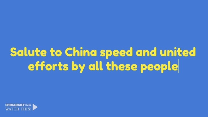 Salute to China speed and united efforts by all these people