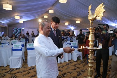 Dignitaries at the lamp lighting ceremony of the RE Growth Forum in Colombo, Sri Lanka