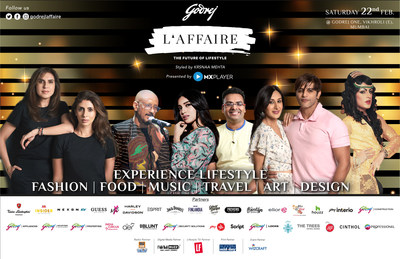 Godrej L'Affaire, a curated experiential lifestyle platform by the Godrej Group is all set for its fourth season to be held in Mumbai on Saturday, February 22 at Godrej One, Vikhroli.