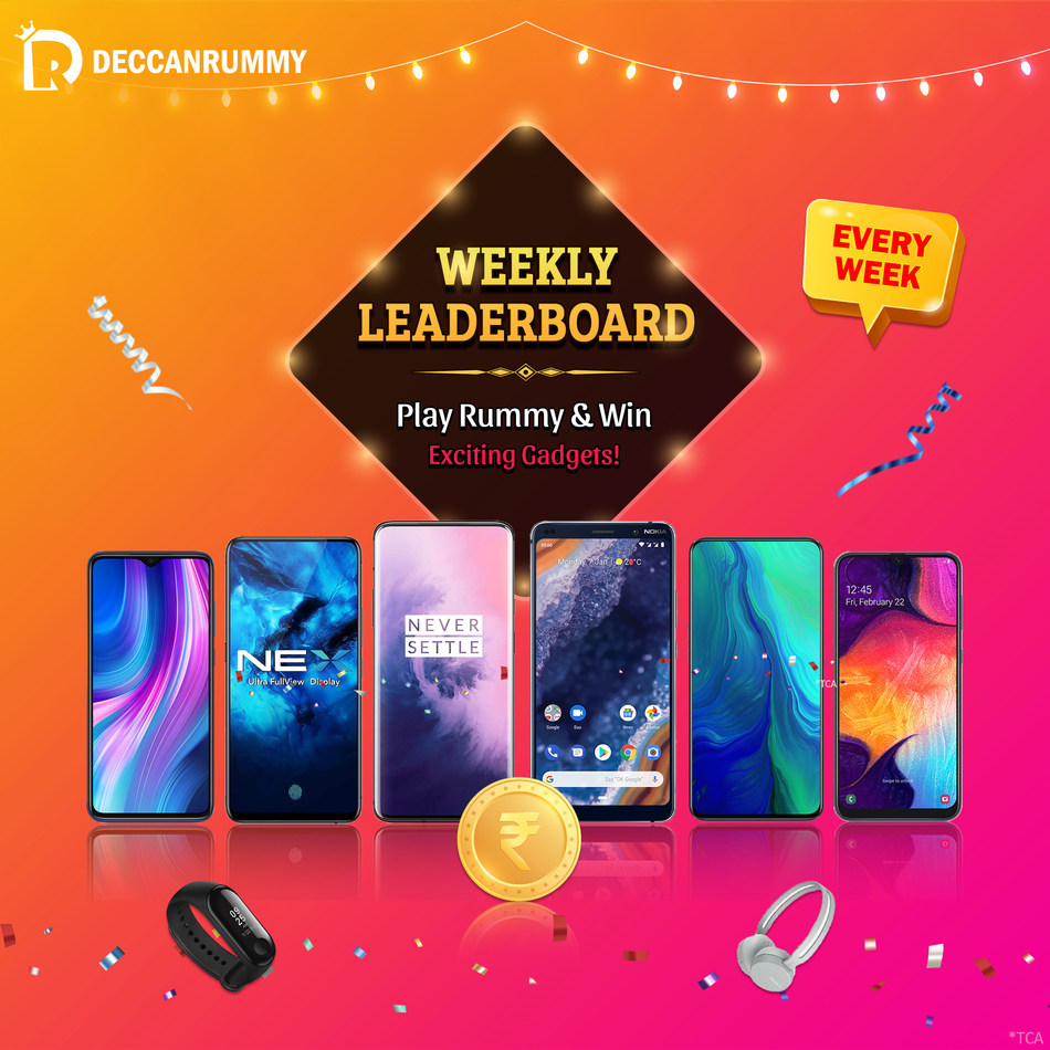 Deccan Rummy Weekly Leaderboard