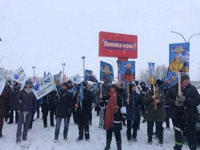 Manifestation CSQ (Groupe CNW/CSQ)