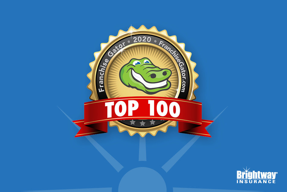 Brightway Insurance leaps forward 20 spots and is also named one of the Fastest Growing Franchises.