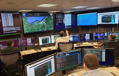 The Command Non-Payload Control (CNPC) flight test control room is the center of activity for all CNPC flight testing, which has included multiple aircraft and a variety of radio and antenna configurations.