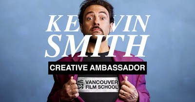 Vancouver Film School is proud to announce acclaimed filmmaker Kevin Smith as the school's Creative Ambassador for 2020. (CNW Group/Vancouver Film School)
