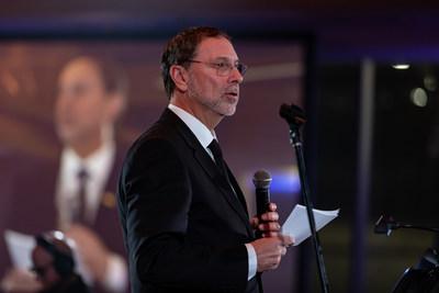 M. Yves-Thomas Dorval, président et chef de la direction du CPQ, s'est adressé aux 400 convives pour remercier les artisans qui ont contribuer à bâtir une organisation vouée à la prospérité collective et inclusive du Québec. (Groupe CNW/Conseil du patronat du Québec)