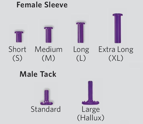 TenoTac Implant (Male Tack and Female Sleeve)