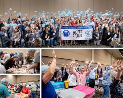 FASTSIGNS International, Inc. assembled 20,000 meals during the 2020 FASTSIGNS® International Convention in Phoenix