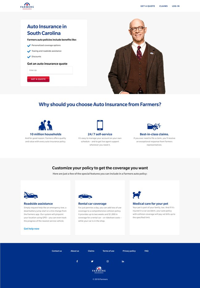 Farmers Insurance® launches fully-digital auto insurance product in South Carolina, with quoting completed in under a minute.