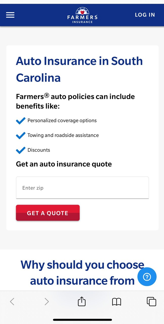 Farmers Insurance® launches fully-digital auto insurance product in South Carolina, with quoting completed in under a minute and easy-to-navigate self-serve dashboard. Customers can adjust core auto insurance features like coverages, vehicles, drivers and more. Consumers may also add a variety of endorsements, like rideshare coverage.