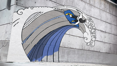 "Goodyear's new commercial, ""Breakout,"" portrays the iconic Goodyear Wingfoot coming to life as a symbol for forward motion, giving a graffiti character the power to grow, evolve and transform. Each transformation represents different attributes of Goodyear's tires and opens doors to new experiences and adventures – from a surfer signifying exceptional wet performance to a rock climber demonstrating all-terrain capabilities."