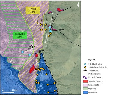 Figure 5. Geology map of Findiklidere prospect. (CNW Group/Alacer Gold Corp.)