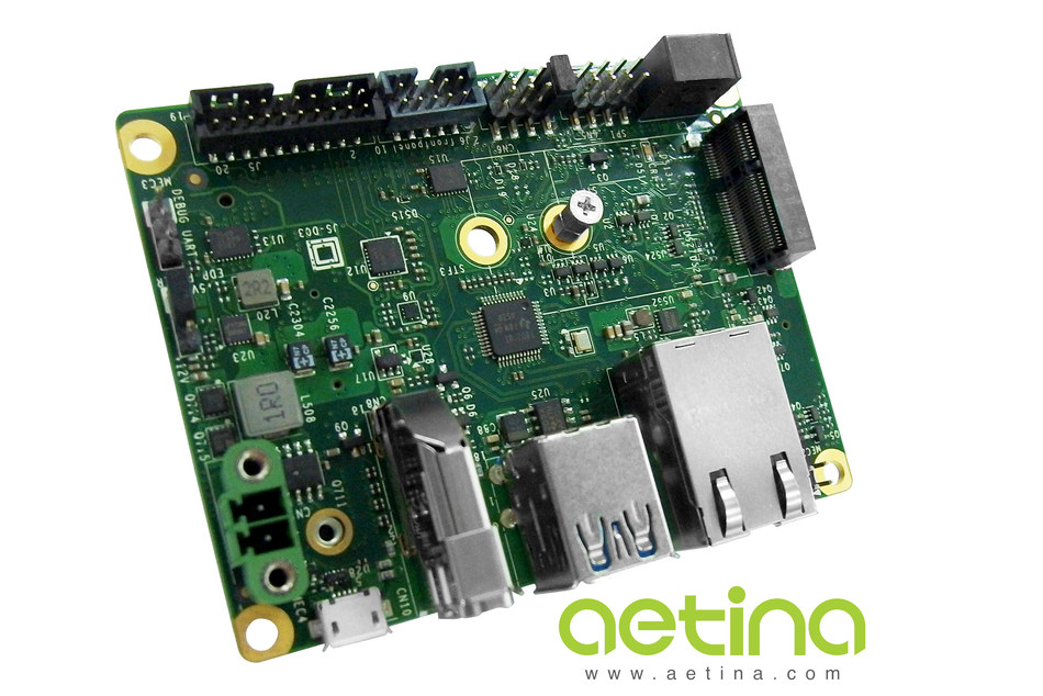 Aetina carrier board AN110 exclusive for Nvidia Jetson Nano module.