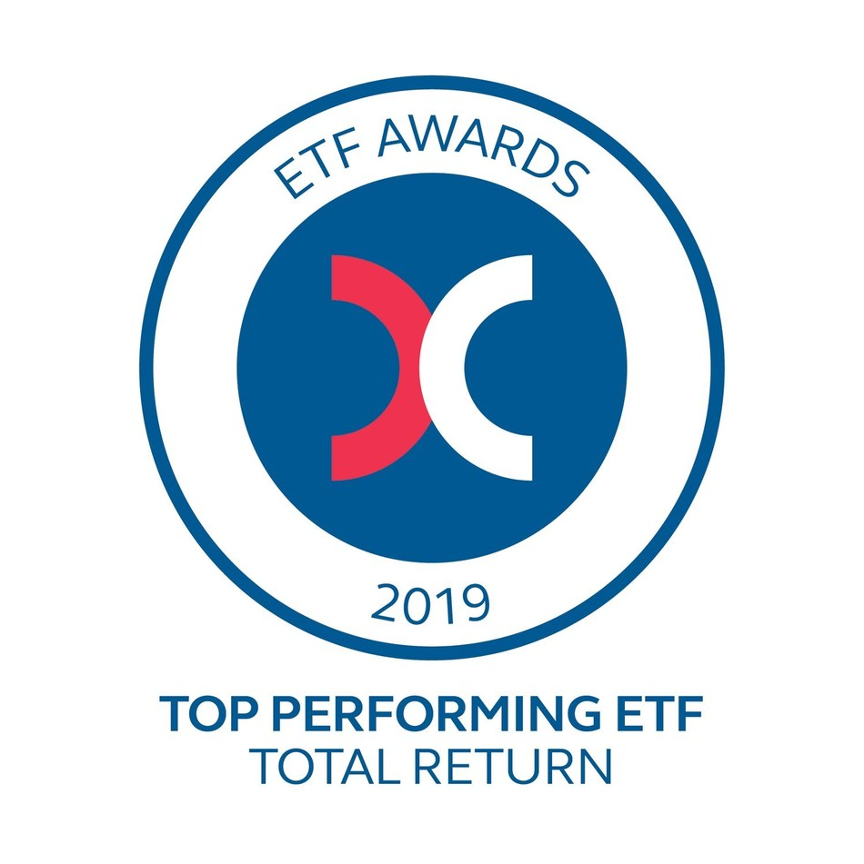 Premia Partners a reçu le prix 2019 de la Bourse de Hong Kong récompensant le fonds négocié en bourse offrant le meilleur rendement total pour son Premia CSI Caixin China New Economy ETF, qui a offert un rendement de 45,2 % en 2019 (PRNewsfoto/Premia Partners)