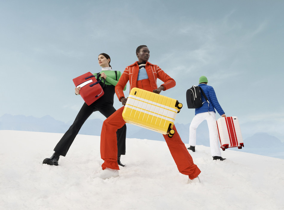 Away's limited-edition luggage inspired by retro winter style.
