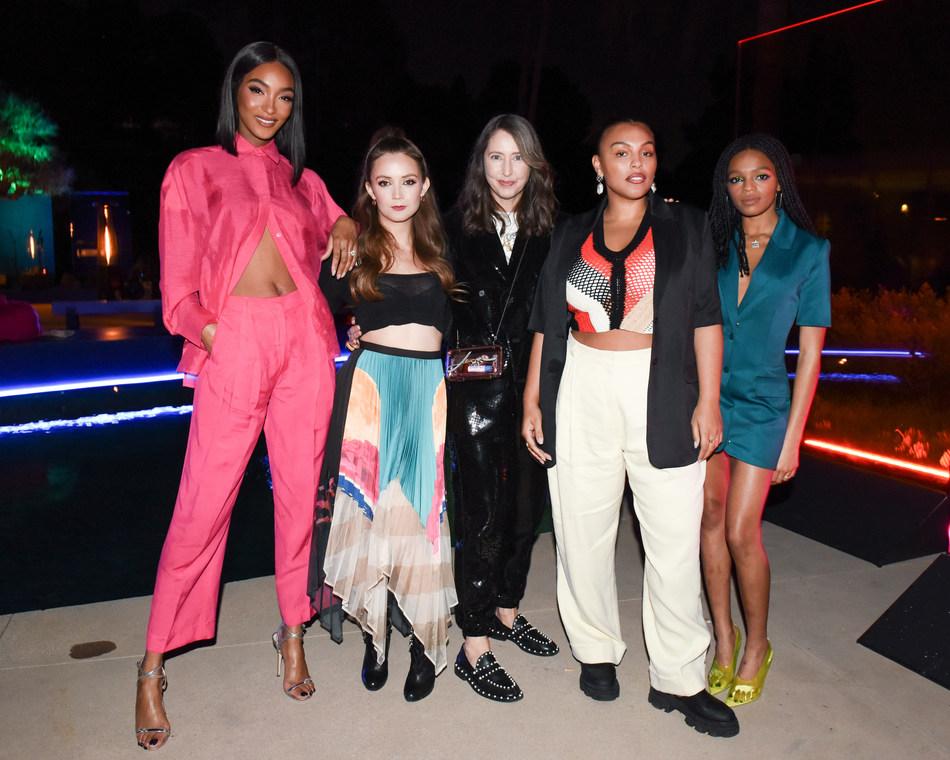 Jourdan Dunn, Billie Lourd, Paloma Elesser, Ann-Sofie Johansson, Selah Marley at H&M Studio event in Los Angeles