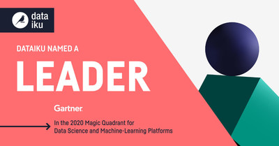 Dataiku在《高德纳2020年数据科学和机器学习平台魔力象限》报告中入选领导者象限