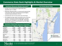 Nicolet Bankshares, Inc. To Acquire Commerce Financial Holdings, Inc.
