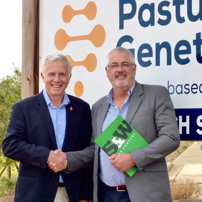 Pasture Genetics' Founder Rob Damin and S&W Seed Company's Executive VP-International David Callachor announce the acquisition of Pasture Genetics by S&W.