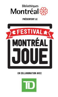 Logo : Montréal joue (Groupe CNW/Bibliothèque et Archives nationales du Québec)