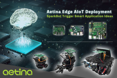 Aetina Lead Edge AIoT with SparkBot On Display in EW2020