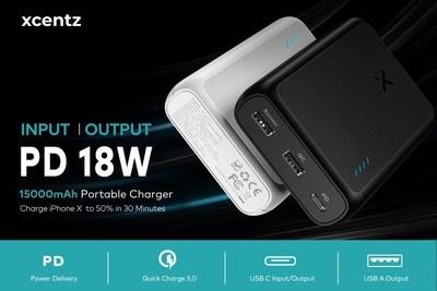 Xcentz 15,000mAh 18W PD&QC 3.0 USB-C Power Bank