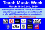 Teach Music Week to Offer FREE Lessons to New Students: March 16-22