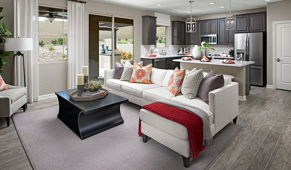 Richmond American's Lantana plan at Verismo at Cadence in Henderson, NV, offers open living space.