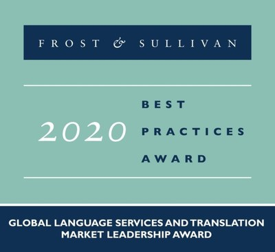 LanguageLine Solutions Receives Frost & Sullivan 2020 Market Leader Award for Investments in Technology and Superior Language Services