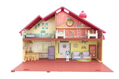 """Moose Toys brings Bluey to life through a collection of play sets, figures, plush and accessories, including Bluey Family Home, the actual home as seen in the hit Disney TV show, """"Bluey."""""""