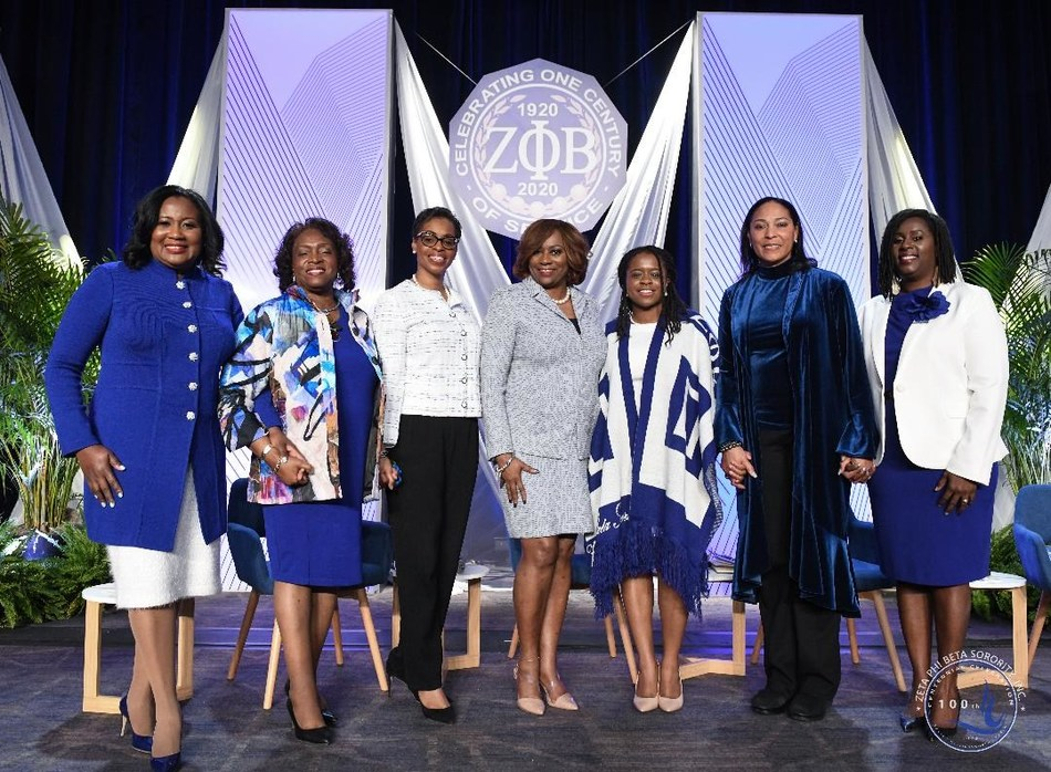 Washington D.C., February 19, 2020 – Zeta Phi Beta Sorority, Inc. ended its Finer Womanhood Empowerment Summit held at the Washington Hilton on Jan. 18 with a panel of women leaders who shared tips on how to mobilize the Black community. Panelists included (left to right): Kendra Hatcher King, moderator; the Honorable Barbara West Carpenter; Karen Boykin-Towns; Valerie Hollingsworth Baker, International Centennial President; Ireisha Vaughn; Retired Maj. Gen. Linda L. Singh; and Ramunda Lark Young.