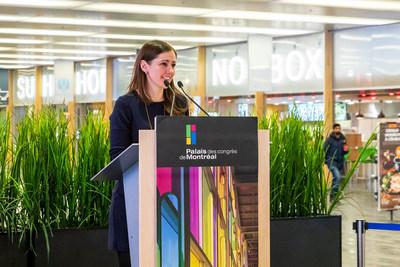 Claire Tousignant, Managing Partner at MASSIVart (CNW Group/Palais des congrès de Montréal)