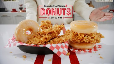 Kentucky Fried Chicken & Donuts brings two classics together—KFC's famous Extra Crispy (TM) fried chicken paired with glazed-to-order donuts, served hot. Available nationwide beginning February 24, only for a limited time.