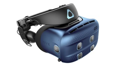 Featuring high-quality passthrough cameras, Vive Cosmos XR combines a crisp view for overlays of the real world, blended seamlessly into the virtual one. (PRNewsFoto/HTC VIVE)