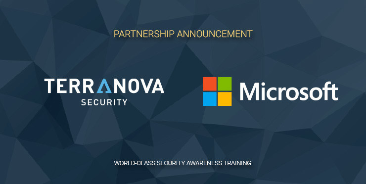 Microsoft and Terranova Security Partner to Provide Inclusive and Human-Centric Security Awareness Content. (CNW Group/Terranova Security)