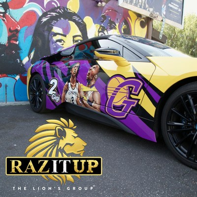 Founder and CEO of HML Investments Teams up with Artists to Create Kobe and Gigi Bryant Tribute Car