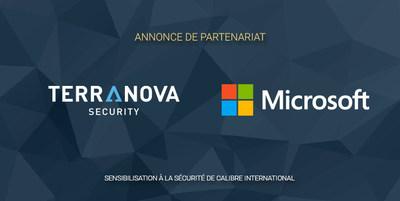 Microsoft et Terranova Security s'unissent pour fournir du contenu en sensibilisation à la sécurité inclusif et centré sur les personnes. (CNW Group/Terranova Security)