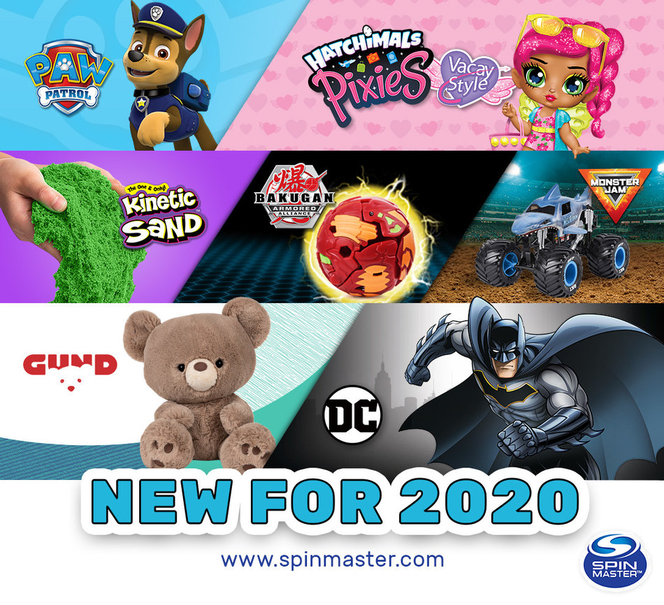 Spin Master Descends on New York Toy Fair with its Innovative Portfolio of Toys, Entertainment Franchises and Mobile Digital Platforms for 2020 (CNW Group/Spin Master)