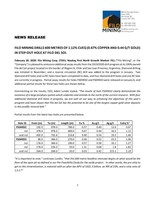 Filo Mining Drills 600 Metres of 1.12% CuEq (0.67% Copper and 0.44 g/t Gold) in Step-Out Hole at Filo del Sol (CNW Group/Filo Mining Corp.)