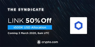 Crypto.com Exchange to list LINK with a $500,000 USD allocation at 50% off for CRO stakers.